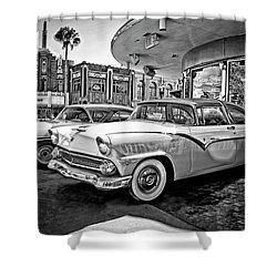 1955 Fairlane Crown Victoria Bw Shower Curtain