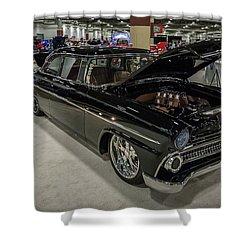 Shower Curtain featuring the photograph 1955 Ford Customline by Randy Scherkenbach