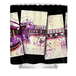1955 Les Paul Custom Black Beauty V3 Shower Curtain by Gary Bodnar