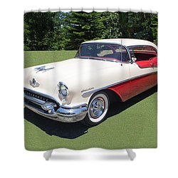 1955 Oldsmobile Super 88 Holiday Shower Curtain