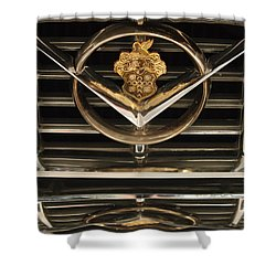 1955 Packard Hood Ornament Emblem Shower Curtain by Jill Reger