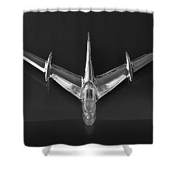 1955 Pontiac Safari Hood Ornament 3 Shower Curtain by Jill Reger