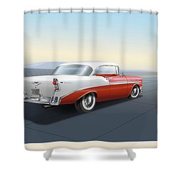 1956 Chevrolet Bel Air Shower Curtain by Marty Garland