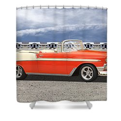 1956 Chevrolet Belair Convertible Shower Curtain