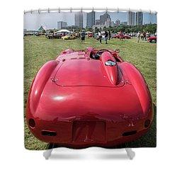 Shower Curtain featuring the photograph 1956 Ferrari 290mm - 2 by Randy Scherkenbach