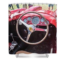 Shower Curtain featuring the photograph 1956 Ferrari 290mm - 4 by Randy Scherkenbach