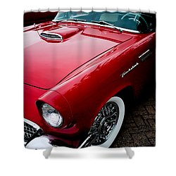 1956 Ford Thunderbird Shower Curtain