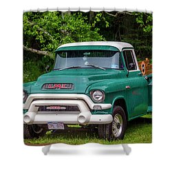 1956 Gmc Pickup Shower Curtain by Ken Morris