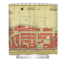 Shower Curtain featuring the photograph 1956 Inwood Map  by Cole Thompson
