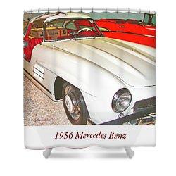 1956 Mercedes Benz Shower Curtain