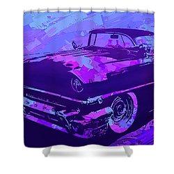 1956 Mercury Hardtop Custom Pop Violet Shower Curtain
