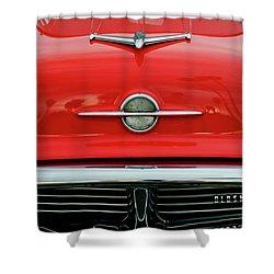 1956 Oldsmobile Hood Ornament 4 Shower Curtain by Jill Reger