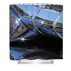 1956 Pontiac Chieftain Grill Abstract Shower Curtain