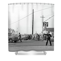 1957 Car Accident Shower Curtain