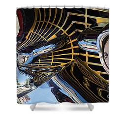 1957 Chevy Bel Air Grill Abstract 1 Shower Curtain