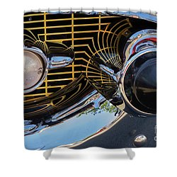 1957 Chevy Bel Air Grill Abstract 2 Shower Curtain