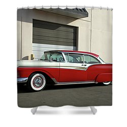 1957 Ford Fairlane Custom Shower Curtain by Tim McCullough
