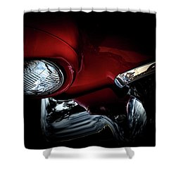 Shower Curtain featuring the photograph 1957 Ford Thunderbird, No.6 by Eric Christopher Jackson