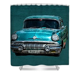 1957 Pontiac Bonneville Shower Curtain
