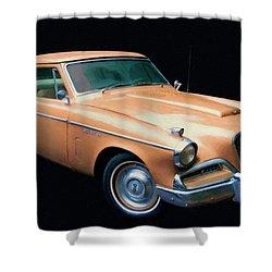 1957 Studebaker Golden Hawk Digital Oil Shower Curtain