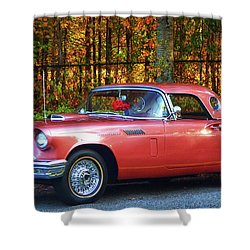 1957 Thunderbird  003 Shower Curtain