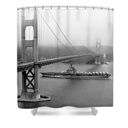 1957 Uss Hancock In San Francisco Shower Curtain