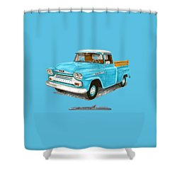 1958 Apache Pick Up Truck Shower Curtain