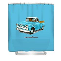 Apache Pick Up Truck Shower Curtain by Jack Pumphrey