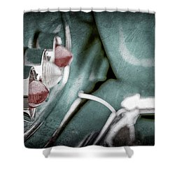 Shower Curtain featuring the photograph 1958 Chevrolet Impala Taillight -0544ac by Jill Reger