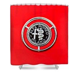 1959 Alfa-romeo Giulietta Sprint Emblem Shower Curtain by Jill Reger