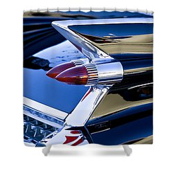 1959 Cadillac Coupe Deville  Shower Curtain by Rich Franco