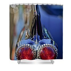 Shower Curtain featuring the photograph 1959 Cadillac Eldorado Tail Fin 4 by Jill Reger