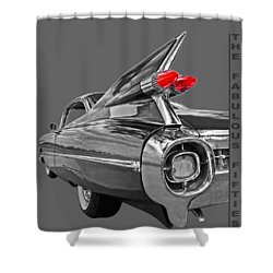 1959 Cadillac Tail Fins Shower Curtain by Gill Billington