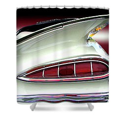 1959 Chevrolet Impala Tail Shower Curtain by Peter Piatt