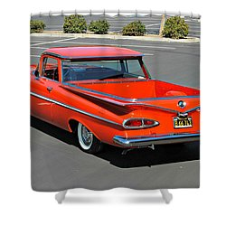 1959 El Camino In Red Shower Curtain