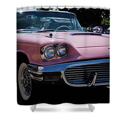 1959 Ford Thunderbird Convertible Shower Curtain