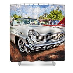 1959 Lincoln Continental Town Car Mk Iv Painted Shower Curtain by Rich Franco