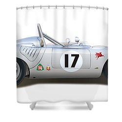 1959 Porsche Type 718 Rsk Spyder Shower Curtain by Alain Jamar