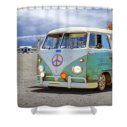 1959 Vw Bus Shower Curtain by Mike McGlothlen