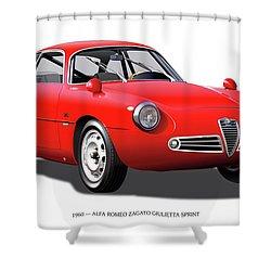 1960 Alfa Romeo Zagato Giulietta Sprint Shower Curtain by Alain Jamar