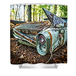 1960 Cadillac At Rest Shower Curtain