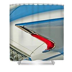 1960 Cadillac Eldorado Biarritz Convertible Taillight Shower Curtain by Jill Reger