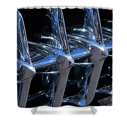 1960 Chevy Corvette Grill Abstract Shower Curtain