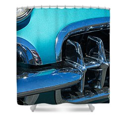 1960 Chevy Corvette Headlight And Grill Abstract Shower Curtain