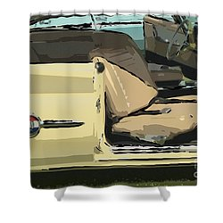 Shower Curtain featuring the photograph 1960 Chrysler 300-f  Muscle Car by David Zanzinger