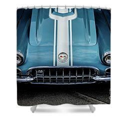 Shower Curtain featuring the photograph 1960 Corvette by M G Whittingham