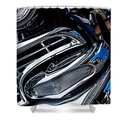 Shower Curtain featuring the photograph 1958 Ford Crown Victoria Reflection 2 by M G Whittingham