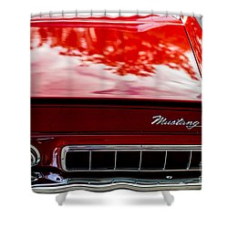 Shower Curtain featuring the photograph 1967 Mustang by M G Whittingham