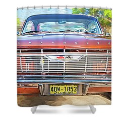 Shower Curtain featuring the photograph 1961 Chevrolet Impala Ss  by Rich Franco