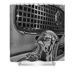 Shower Curtain featuring the photograph 1961 Nash Metropolitan Bw Pov by John S